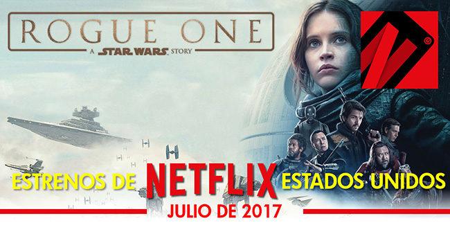 Netflix, estrenos en julio de 2017 en Estados Unidos
