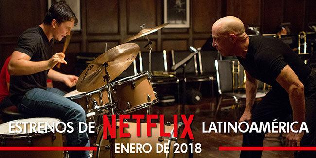 Netflix, estrenos en enero de 2018 en Latinoamérica