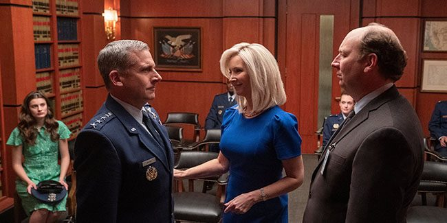 Lisa Kudrow y Steve Carell juntos en Space Force por Netflix