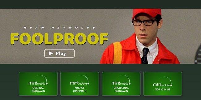 Ryan Reynolds lanza su plataforma de streaming, Mint Mobile+, con un solo filme